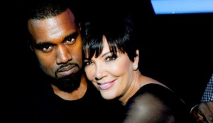 Kris Jenner with Kanye West