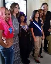 Paris Jacksom with OMG Girlz