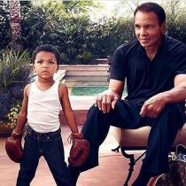 Ali with his grandson