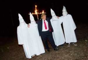 Trump poses with members of the KKK